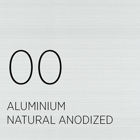 00 Aluminium Natural Anodized